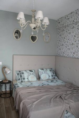 The incredible bedroom of the luxury Apartments Chalkidiki in Pefkochori