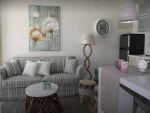 The lavish interior of the luxury apartment in Pefkohori from Apartment Chalkidiki