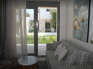 The beautiful living room of Apartment Chalkidiki in Pefkohori